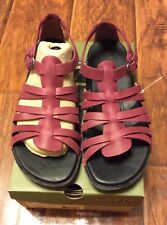 Women's Leather Beet Red Alman  Gladiator Sandals by Keen size 7