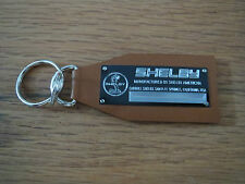 Shelby Vintage Look Data Plate Leather Keychain Cobra Mustang Series 1 Ford