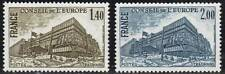 "FRANCE STAMP TIMBRE SERVICE N° 63/64 "" BATIMENT CONSEIL STRASBOURG "" NEUFSxx TTB"