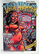 Rockin Jelly Bean 02 Velvet Hammer Signed Silkscreen Poster Burlesque Pinup Mint
