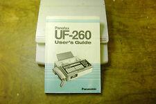 Panasonic Panafax UF-260 users guide Manual
