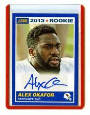 2013 SCORE #336 ALEX OKAFOR AUTOGRAPH AUTO ROOKIE CARD RC - ARIZONA CARDINALS