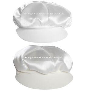 BABY BOYS CHRISTENING HAT IVORY/CREAM,WHITE WEDDING/BAPTISM CAP BAKER STYLE