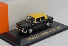 Renault 8 Taxi Santiago de Chile 1965 black yellow diecast 1:43 IXO Altaya