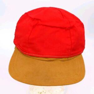 Vintage Reversible Red Brown Hunting Hat Cap 7 5/8