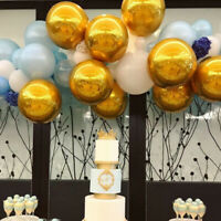 10Pcs 4D Round Aluminum Foil Helium Balloons Wedding Birthday Party Decoration