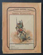 Protège cahier ARMEE FRANCAISE infanterie marine GOMPEL militariat copybook