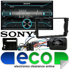 VW Scirocco 2008 Sony Double Din Bluetooth AUX MP3 USB Car Stereo & Steering Kit