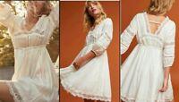 Anthropologie Gustavia Praire Dress by Eri + Ali White X Small $158