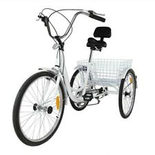 "Ridgeyard Cruze 24"" 6 Vitesses Tricycle - Blanc"