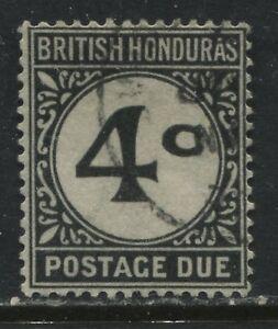 British Honduras 1923 Postage Due 4 cents black used