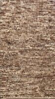 Abstract Modern Moroccan Oriental Area Rug Hand-knotted Plush Wool Carpet 7x10