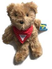Eden Plush Oshkosh B'gosh Teddy Bear Red Bandana With Tags 57005