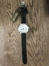 Franck Muller Cavalli Men's Watch Roman Gold Leather Band 100% Authentic!!!
