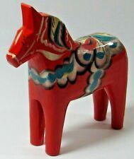 Nils Olsson Carved Wooden Red Dala Horse Akta Dalahemslojd Swedish
