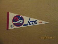 WHA Winnipeg Jets Vintage Defunct McDonald's Sponsored Logo Hockey Pennant