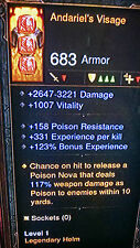 Diablo 3 HARDCORE MODE MODDED LEVEL 1 FULL ARMOUR SET MODDED GEMS AND WEAPONS