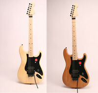 Unfinished Electric Guitar Kits Alder(Basswood) Body Canada Maple DIY Guitar