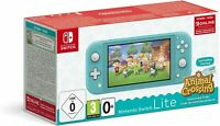 Console Nintendo Switch Lite Turquoise + Animal Crossing : New Horizon limited