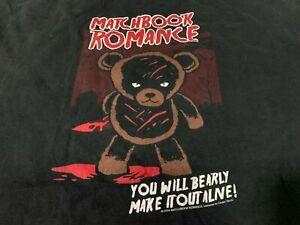 Vintage 2004 00's Matchbook Romance Rock Emo Metal Concert T Shirt Senses Fail