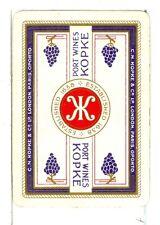 """Single Vintage Wide Playing Card, """"Kopke"""" Port Wines"""