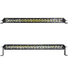 22Inch Cree Chips Slim Single Row 100w Spot Flood Combo LED Light Bar Jeep SUV