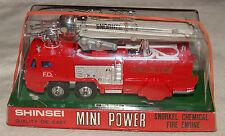 Shinsei Mini Power 4109 1:78 snorkel Chemical Fire Engine vintage 70s DIECAST