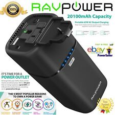 RAVPower 20100mAh AC Plug Outlet Portable Charger External Battery Pack RP-PB054