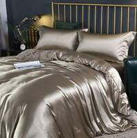 Summer Washed Real Silk Bedding Quilt Duvet Cover Pillowcases Sheet Set Hot Sell