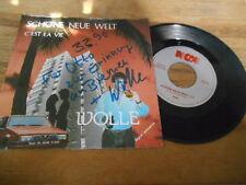 """7"""" Schlager Wolle - Schöne neue Welt / C'Est La Vie (2 Song) NGM sign? Quintus"""