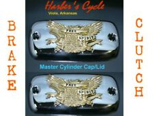 Yamaha Royal Star Venture 1300 - Chrome & Gold master cylinder caps/lids/covers