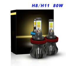 2x H11 H8 LED De Luces De Niebla Bombillas 80W DRL Unidad Blanco Amarillo Doble Color De Alta Potencia