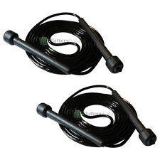 2X NEW! Black 9FT Plastic Handle Speed Skipping Rope Boxing Exercise Jumping HOT