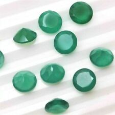 Wholesale Lot of 9mm Round Facet Natural Green Onyx Loose Calibrated Gemstone