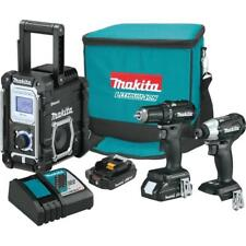 New Makita CX301RB 18V LXT Li-Ion 2.0Ah Sub-Compact Cordless 3-Pc Combo Kit