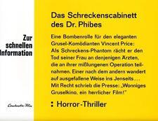 Das Schreckens-Cabinett des Dr. Phibes ORIGINAL Aushangfoto Price / Cotten TOP