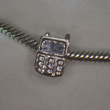 UNBRANDED ANTIQUE 925 STERLNG SILVER CELL ~MOBILE PHONE TELEPHONE EUROPEAN CHARM