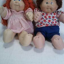 Vintage Cabbage Patch Kids Doll Dolls 1986 Lot Of 2 80s