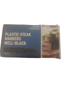 "(1000 MARKERS)STEAK MARKER PLASTIC ""WELL"" MARKING STEAK COOKING TEMP Black Color"