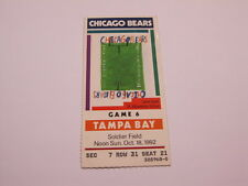 Oct 18,1992 Chicago Bears vs Tampa Bay Ticket Stub