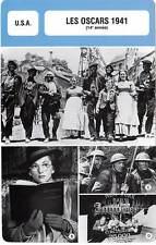 FICHE CINEMA : LES OSCARS 1941 -  USA Ford,Fontaine,Citizen Kane