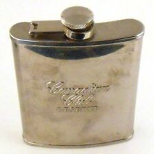 Canadian Club Reserve Stainless Steel Whisky Hip Flask With Attached Screw Top