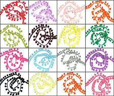 Jumbo 12MM Pom Treccia Frangia, X2 Metri, Scegli Colore, Arte Nessun: