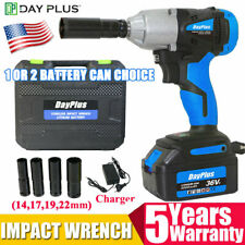 Impact Wrench Sockets Set 21V Battery Cordless 1/2 Rattle Gun electric Brushless