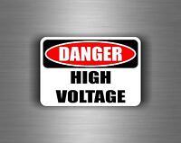 Autocollant sticker voiture moto tuning danger high voltage