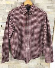 Gap Mens Size M Red Checked Shirt 100% Cotton