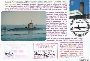 5RNCH131 HMS Triumph Nuclear Submarine Double Signed