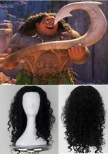 Maui Cosplay Curly Wig Kid Adult Halloween Moana Cos Carnival Disguisement 45CM