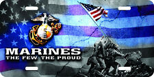 USMC marines Flag airbrushed car tag  license plate