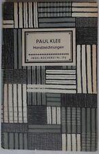 Paul Klee - Handzeichnungen - Will Grohmann - Insel Verlag - 1952